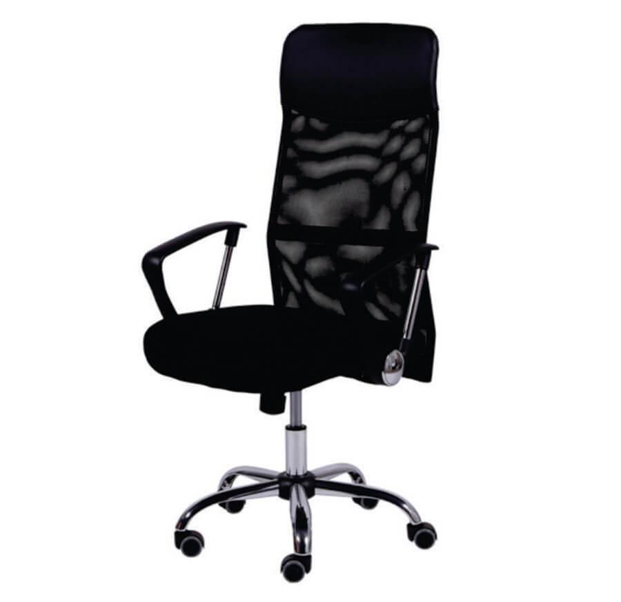 Cadeira Presidente Cromada com Tela
